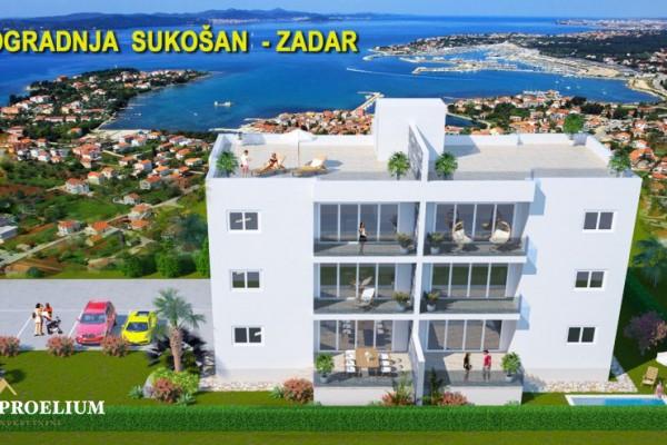 Stan u Sukošanu novogradnja, prizemlje, 65.99 m2, 300m od mora