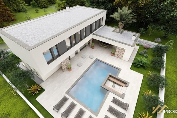 Moderní luxusní vila s bazénem 250M2 + 150M2 zahrada s venkovním fitness, parkování, Zaton-Nin (Zadar)
